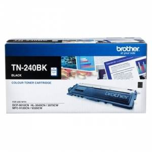 Brother TN 240BK Black Printer Toner Cartridge