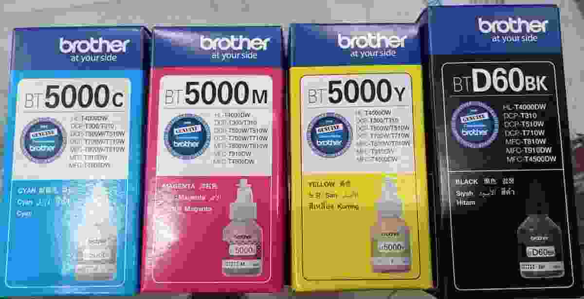 Brother Original Ink 5000 Magenta, Cyan, Black, Yellow Multi Color Ink Bottle Refill