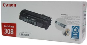 Canon 308 Black Laser Printer Toner Cartridge