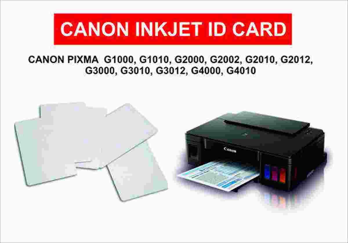 Inkjet PVC ID Card Pack of 50 PCs for Canon Printers G1000, G2000, G2010, G3000, G3010, G4000, G4010 Printer icard