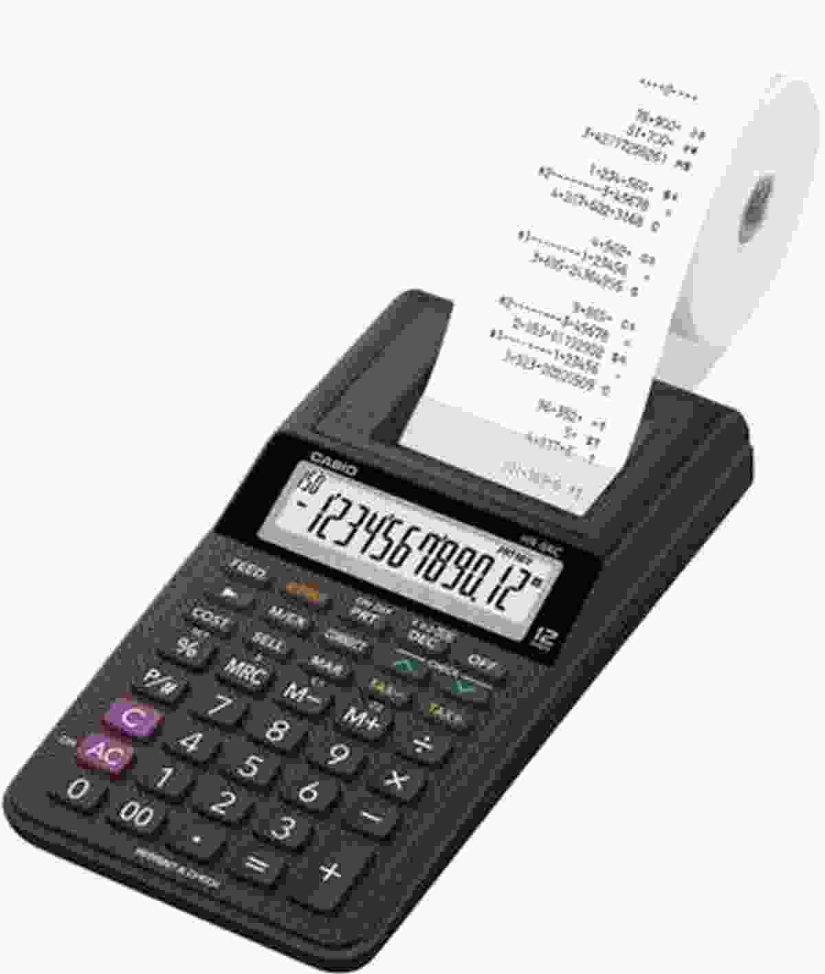 Casio HR-8RC-BK Handheld Printing Calculator