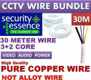 CCTV Camera Cable Coxial Pure Copper Wire