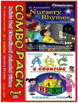 Golden Ball Combo Pack Of Nursery Rhymes ABC And Counting VCD