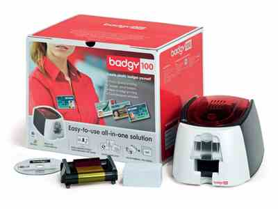 Evolis Badgy100 Single Plastic PVC Card Printer