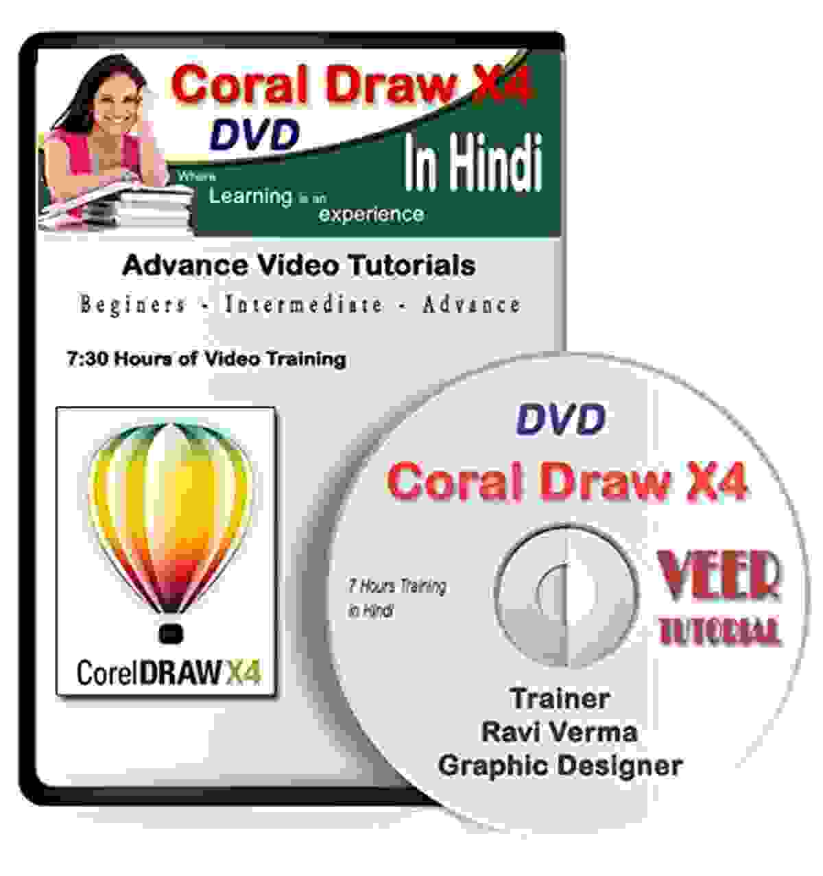 CorelDRAW Tutorial DVD Video Training (1 DVD, 7 Hrs) in Learning Hindi Video