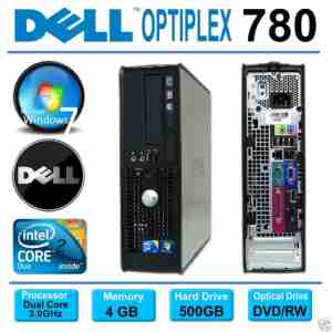DELL Refurbished C2D 4GB 500GB DVD Small Form Branded Desktop Computer