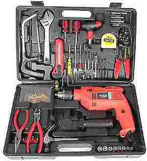 Tool kit with Impact Drill 13MM in BMC Pack 111pcs Home Heavy Duty