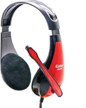Enter EH-95 Headphone with Mic Wired Headphones