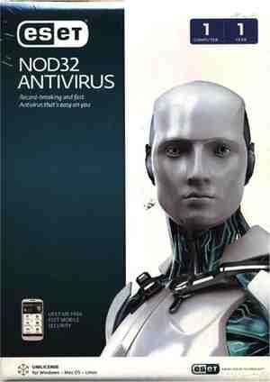 Eset NOD32 Anti-virus Version 8 Home Edition 1 PC 1 Year