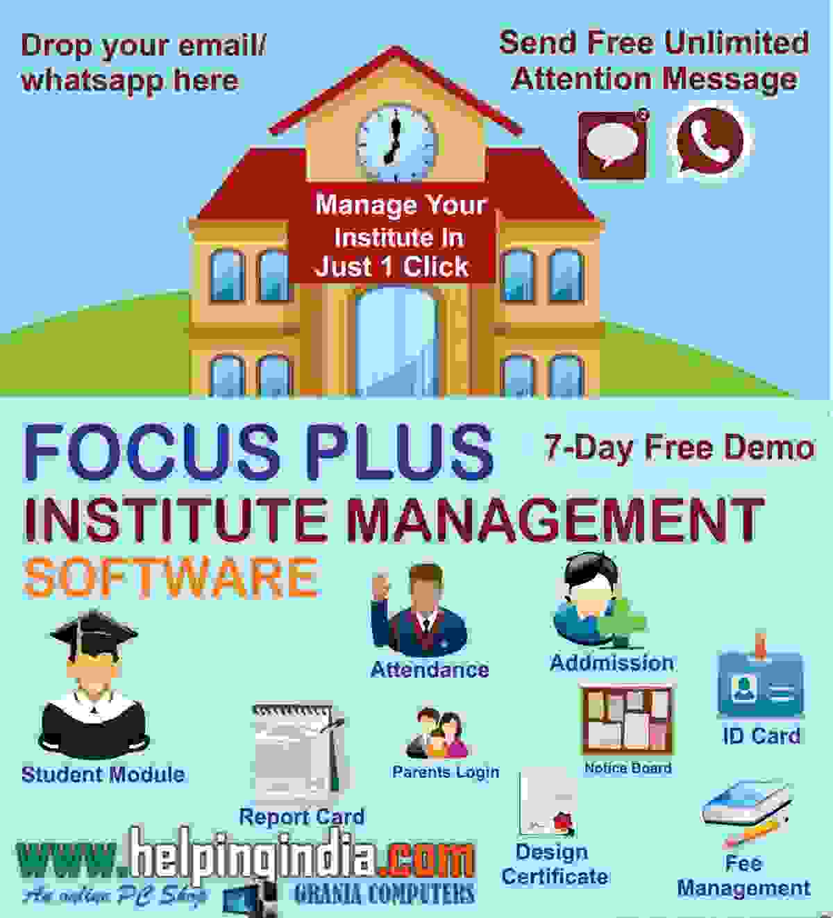Focus Plus Tuition|Coaching|Computer Institutes ERP GST Ready Management Best Software