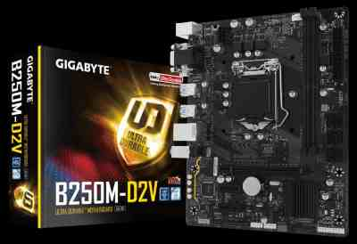 Gigabyte GA-B250M-D2V for 6th and 7th Gen LGA 1151 (Socket H4) ATX motherboard
