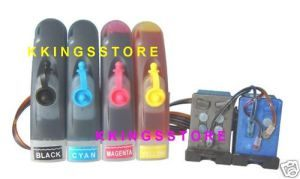 UNIVERSAL HP CANON PRINTER CISS KIT- ANY 4 COLOR CARTRIDGE
