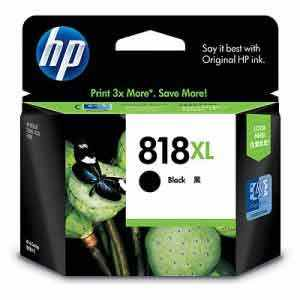 HP 818XL Large Black Ink Cartridge - Click Image to Close