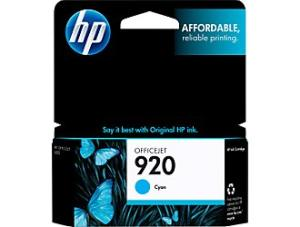 HP 920 Cyan Officejet Ink Cartridge (CH634AN)