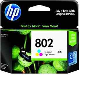 HP 802 Tri-color Large Ink Cartridge