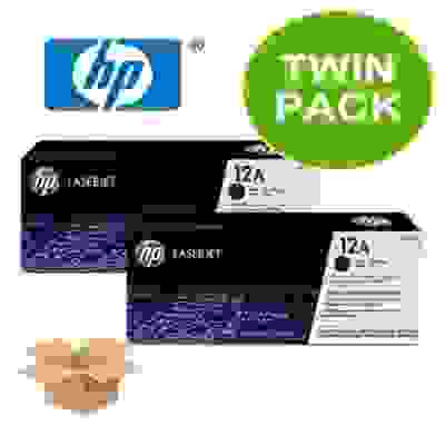 12a Twin Dual Pack Toner | HP 12A Q2612AF Cartridge Price@Hp Twin Printer Cartridge Market Shop - HelpingIndia