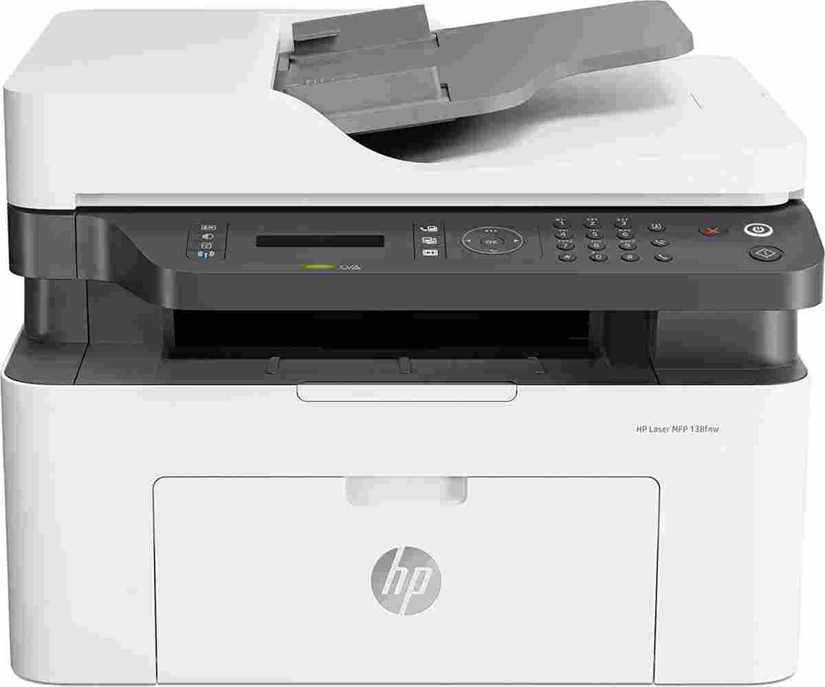 HP 138fnw MFP Multi Function Print Scan Copy Fax Network Wireless Laser Printer