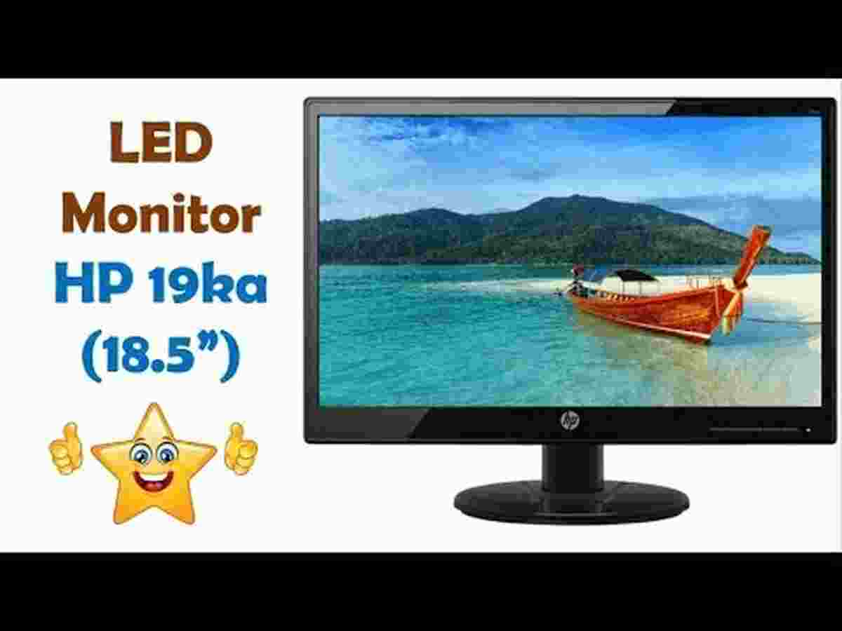 HP 19KA 18.5-Inch LED Backlit Monitor