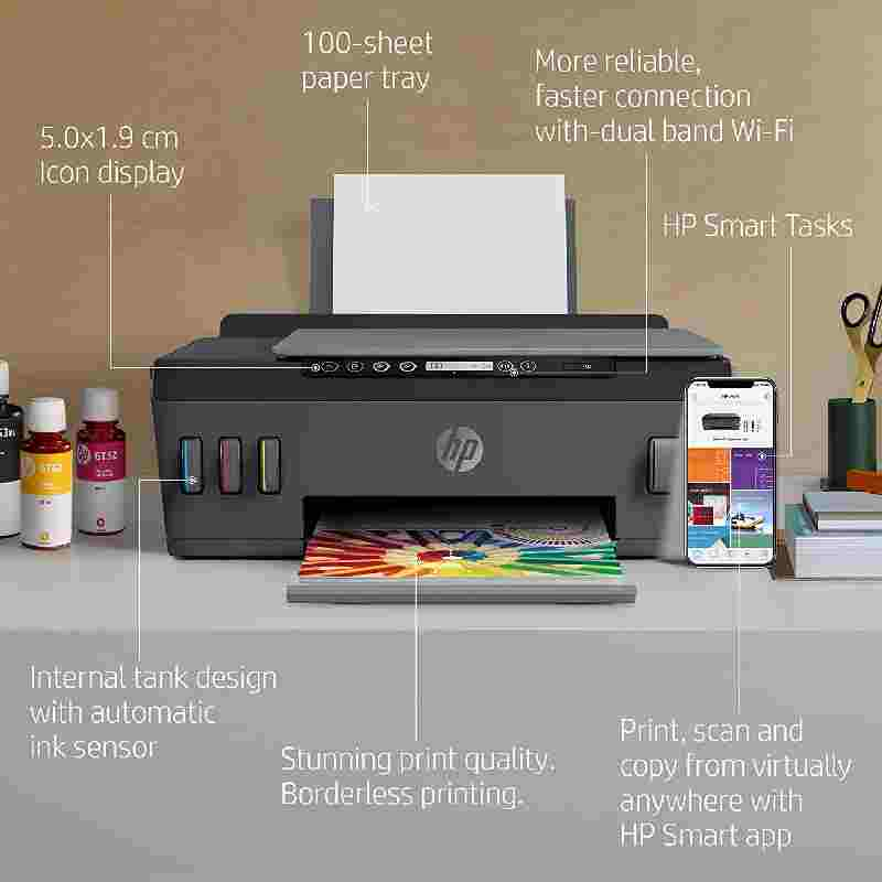 Hp 515 Tan Printer | HP Smart Tank Printer Price 21 Apr 2021 Hp 515 Inkjet Printer online shop - HelpingIndia