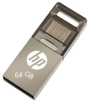 HP 64GB OTG USB Metal Flash Pendrive Drive