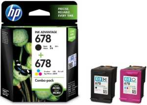 HP 678 Black and Colour Combo Ink Cartridge