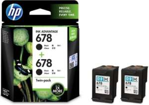 HP 678 Black Dual/Twin Pack Ink Cartridge