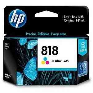Buy HP 818 Tri-color Ink Cartridge@lowest Price hp CC643ZZ ink cartriage Online Computer Market Shop HP Ink Cartridge best offers list