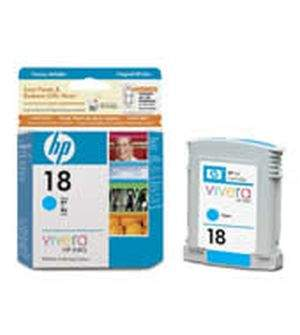 HP 18 Cyan Ink Cartridges