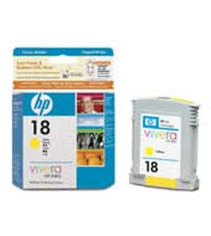 HP 18 Yellow Ink Cartridges