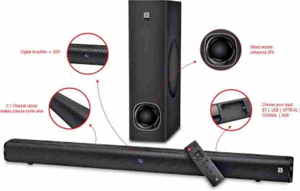 iBall Cinebar 100 High Power 80 W Bluetooth Soundbar