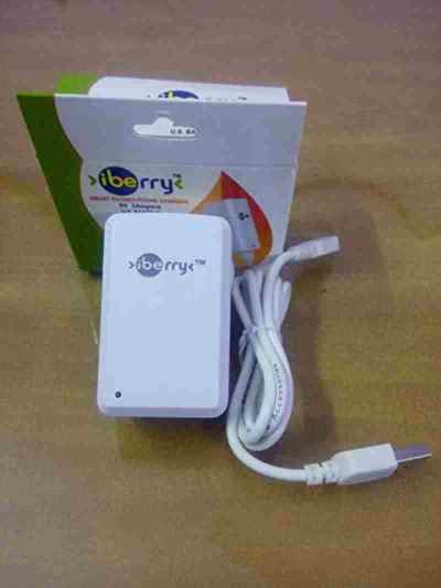 iBerry Mobile Charger 3 Amp Super Fast Charger with 1 Meter USB Cable for All Android and Smart Phone