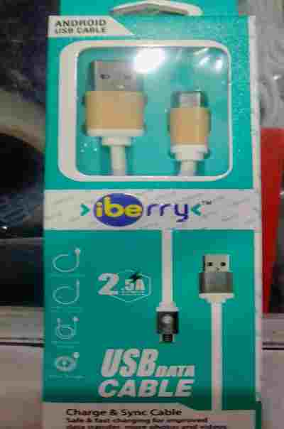 iBerry 2.5A Fast Charging (Metal Connector Casing, 1 Meter cable, Hi-Speed Data Transfer) USB to Micro Sync Data Cable
