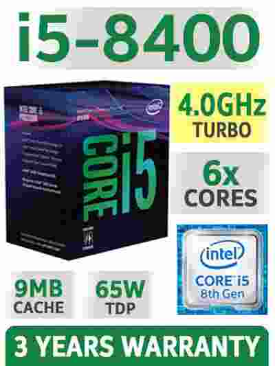 Intel Core i5-8400 Coffee Lake 6-Core 2.8 GHz LGA1151 8th Gen Processor CPU
