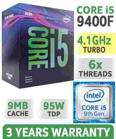 Intel Core i5-9400F 9MB Cache, 4.1 GHz 9th Gen 6x Cores LGA1151 Processor