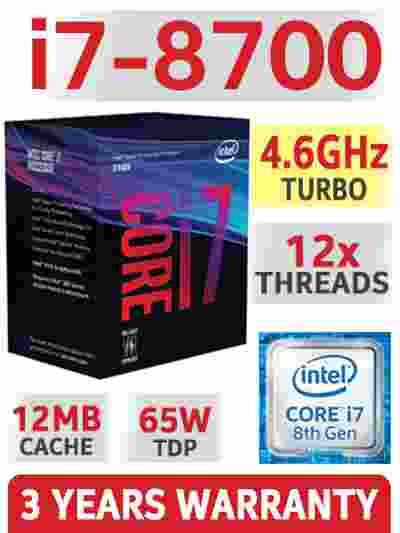 Intel Core i7-8700 3.2 GHz 6-Core LGA 1151 8th Gen Processor CPU