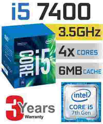 Intel Core i5-7400 Kabylake LGA 1150 3.5Ghz 7th Gen CPU processor