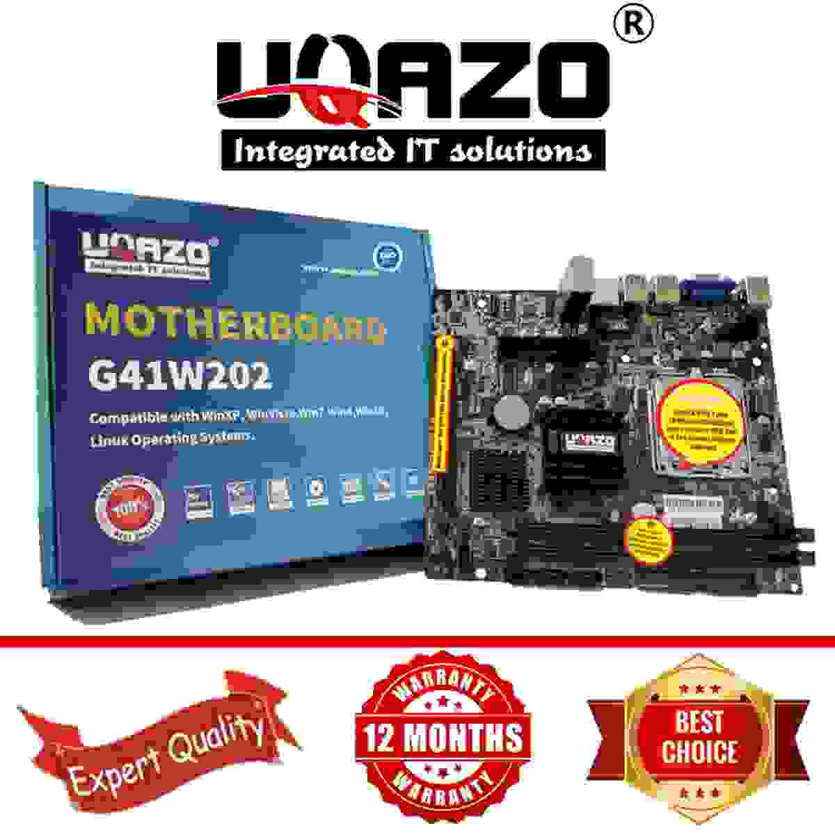 UQAZO G41 Intel Chipset HIGH QUALITY Desktop Mothboard