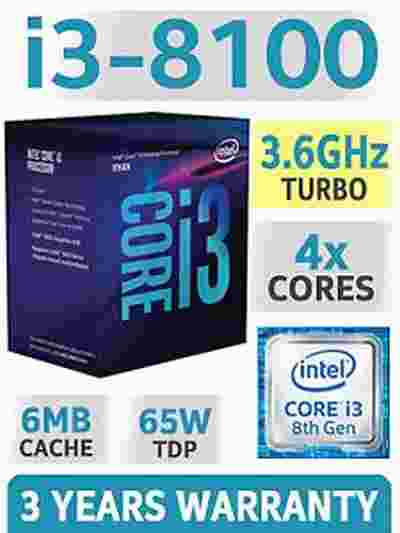 Intel Core i3-8100 6MB Cache, 3.60 GHz 8th Gen Coffee Lake Quad-Core Processor