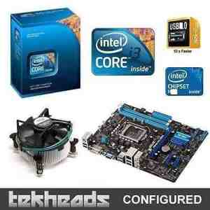 Intel Chipset H55 MotherBoard + I3 Processor + Original CPU Fan Combo Kit