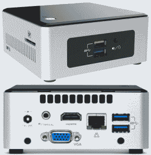Intel NUC Kit NUC5CPYH-Cel n3050 with Wifi , Bluetooth, HDMI & VGA Port Mini PC