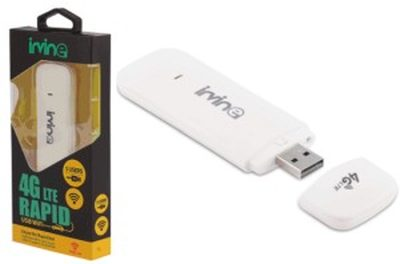 Irvine 3G/4G LTE Rapid Unlocked USB wifi Data Card work all SIM JIO, VODAFONE, AIRTEL, IDEA Internet Modem Dongle