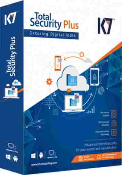 K7 Total Security Plus 4 PC + 1 Android Devcies 1 Year Software CD