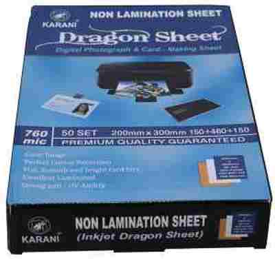 Dragon PVC Karani Plastic Non Lamination Inkjet Digital School ID Card Sheet