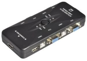 Manual 4 Port USB 2.0 KVM Switch