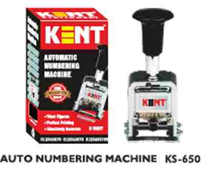 Kent Automatic KS-0060 6 Digit Stamp Auto Numbering Machine