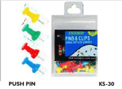 Kent Push Pins/Thumb KS-30 Set of 100 Pieces Multicolour Paper Pins
