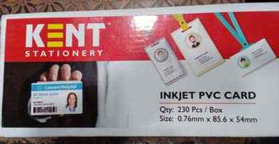 Kent PVC Inkjet White Printable Blank 230 PCs Box Pack Inkjet Printer Plastic Card