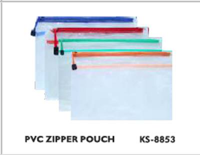 Kent PVC Zipper Pouch 10 PCs Pack Transparent Pouch