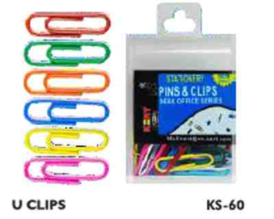 Kent U Shaped Paper Pin/Gems Clip -Set of 100 Pieces Paper Clips