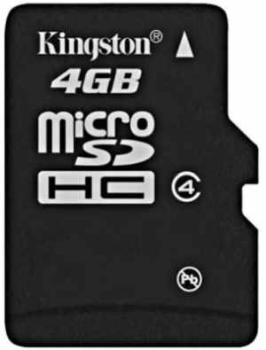 Kingston Memory Card MicroSD 4 GB Class 4